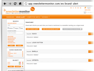 Brand Alert activation NewsletterMonitor