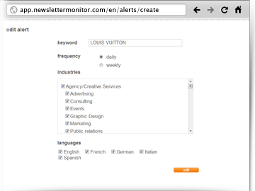 Brand Alert keyword NewsletterMonitor